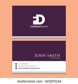 FD Logo | Business Card Template |
