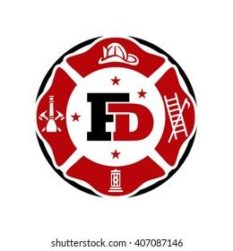 FD logo Fire Fighter logo