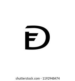 FD Logo letter vector