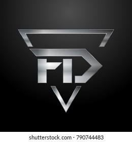 FD Logo, Monogram, Metal