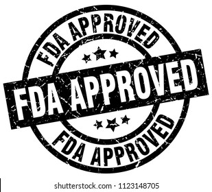fda approved round grunge black stamp