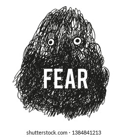 Fear monster illustration - vector graphic