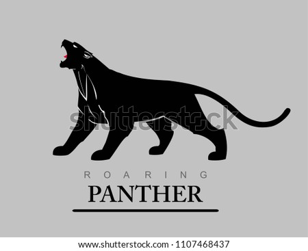 Fearless Panther Roaring Predator