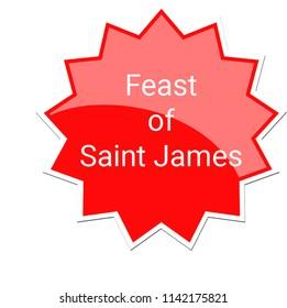 Feast of Saint James Label, July 25