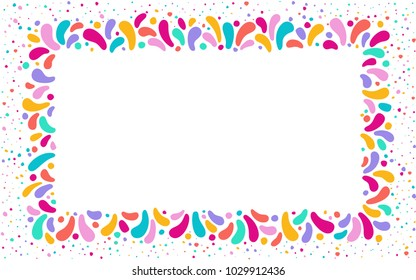 Feast Vector Frame Art Graphics For Celebration Decorate Set Of Colorful Frames Element