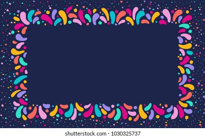 Feast vector frame Art graphics for Celebration decorate. Set of colorful frames. Element for party, masquerade and carnival design invitation, gift card, flyer, brochure, banner, badge, icon, poster