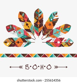feather decoration design, vector illustration eps10 graphic