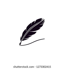 feather drawing vector