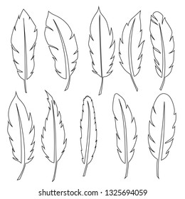 Feather icon set. set of feather vector icons for web design