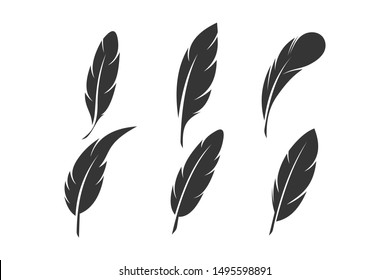Feather icon template color editable. Feathers symbol vector sign isolated on white background. Simple logo vector illustration for graphic and web design.