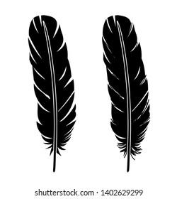 Feather icon vector set illustration