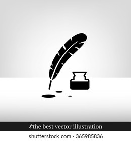 Feather Ink icon vector illustration eps10.