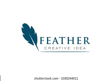 Feather Logo and Icon Vector Template