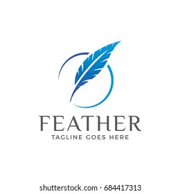 feather logo icon vector template