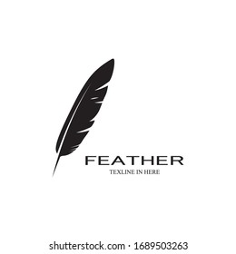 feather logo stock vektor template