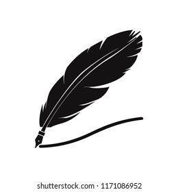 Feather pen icon vector