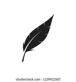 Feather sign. Vector.