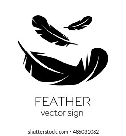 Feather, Vector, Silhouette, Icon, Logo