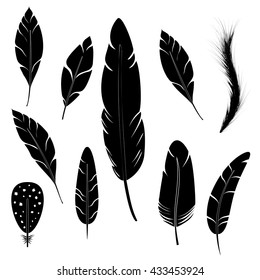 Feather writing tool icon. Concept flat style design illustration icon