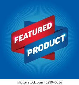 FEATURED PRODUCT arrow tag sign.