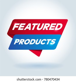 FEATURED PRODUCTS arrow tag sign.