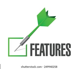 features dart check mark illustration design over a white background