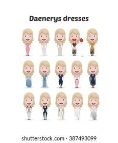 FEB 02, 2016: Vector illustration of Daenerys Targaryen (Game of thrones)