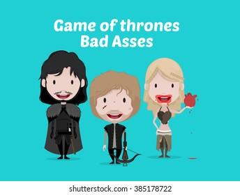FEB 02, 2016:Game of thrones vector illustration