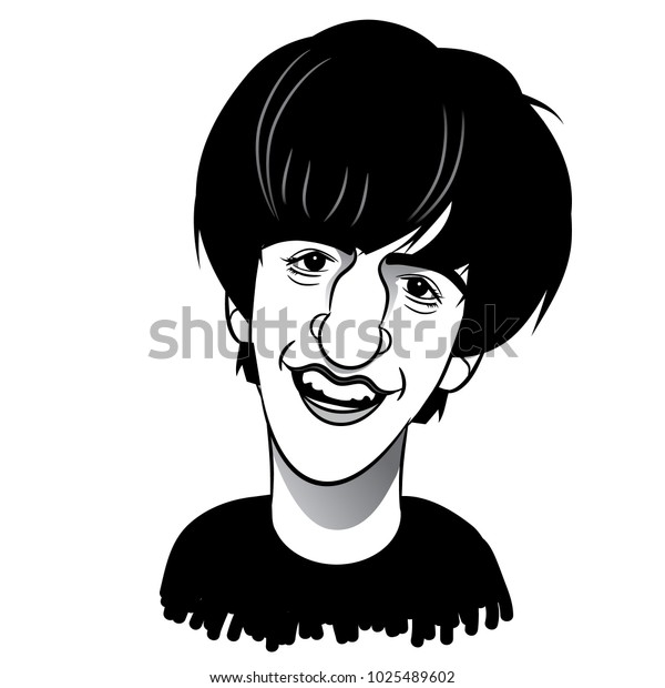 February 15 2018 Caricature Young Ringo Stock Vector Royalty Free 1025489602