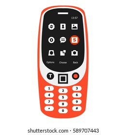 FEBRUARY 28, 2017: Vector of New Orange features Mobile Phone.