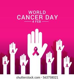 February 4, World Cancer Day Poster or Banner Background.