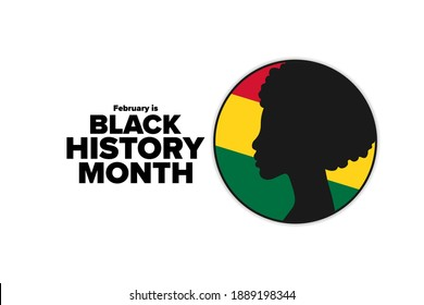 February is National Black History Month. Holiday concept. Template for background, banner, card, poster with text inscription. Vector EPS10 illustration - Shutterstock ID 1889198344