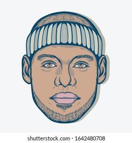 February,2020 : Portrait of LeBron James. American Professional Basketball Player.