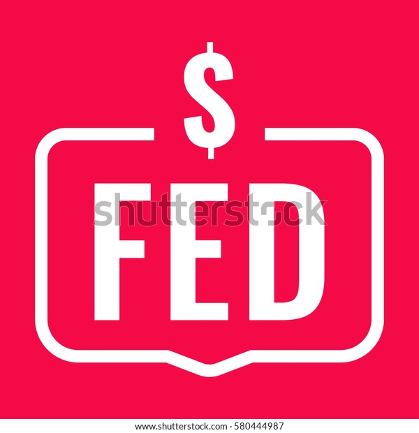 Fed Federal Reserve System Badge Dollar Stock Vector Royalty Free