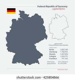 Deutschland Karte Kontur Stockillustrationen Bilder Und