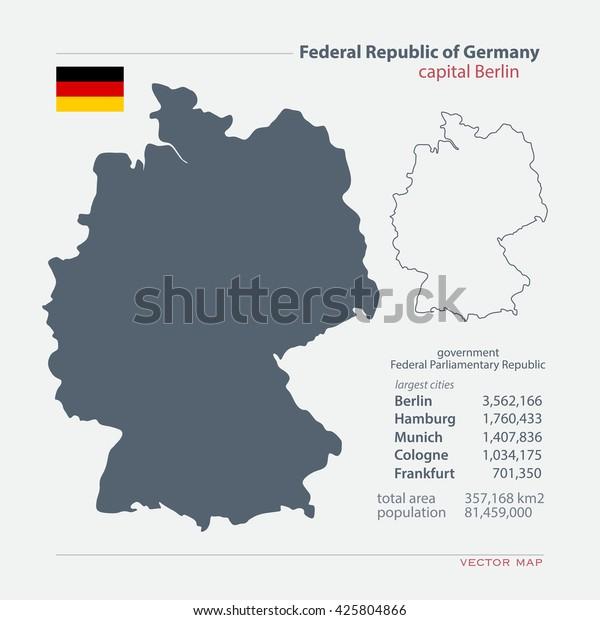 Carte Geographique Allemagne Cologne.Image Vectorielle De Stock De Dallemagne Cartes Et Du