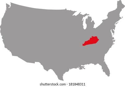 Federal State of USA Kentucky