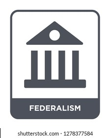 federalism icon vector on white background, federalism trendy filled icons from United states of america collection, federalism vector illustration