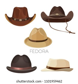 5a751726f6c2f Cowboy Skull Wearing Stylish Brown Fedora Stock Vector (Royalty Free ...