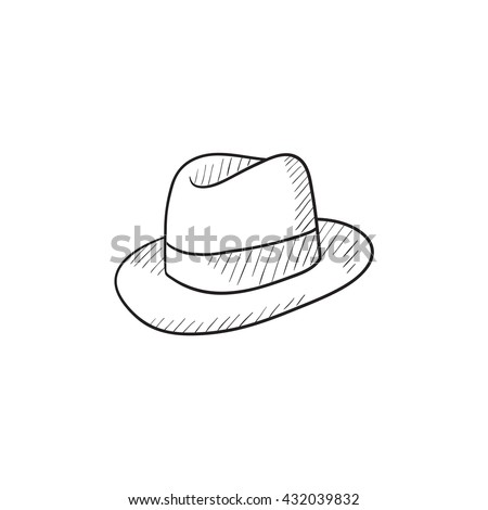 f42a9730378 Fedora Hat Sketch Icon Web Mobile Stock Vector (Royalty Free ...