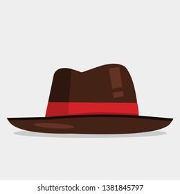 fedora hat vector illustration on white background