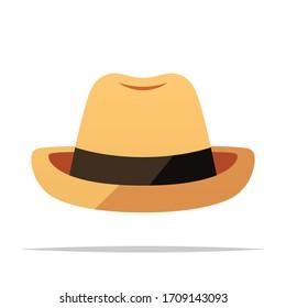 Fedora hat vector isolated illustration