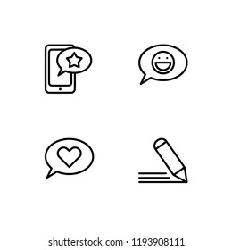 royalty free write review icon images stock photos vectors Green Resume Outline feedback ment add to favorite outline detailed lineal icon set eps 10 vector format
