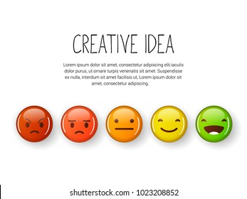 Feedback emoji set. Feedback concept illustration.