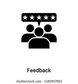 Feedback icon vector isolated on white background, logo concept of Feedback sign on transparent background, filled black symbol