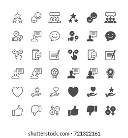 Feedback and review icons, included normal and enable state.