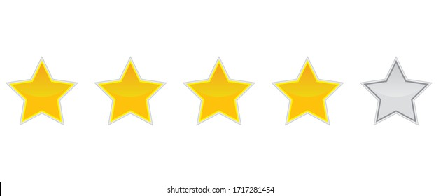 Feedback Stars Rating Ranking Evaluation 4 out of 5