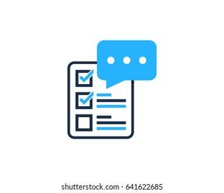 Feedback Testimonial Icon Logo Design Element