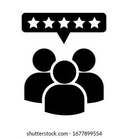 Feedback vector icon. assessment illustration sign. rating symbol.