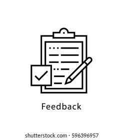 Feedback Vector Line Icon